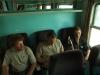 Ve vlaku již začínáme upravovat hladinku nezbytnou pro celý výlet