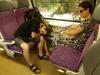 Ve vlaku do Srbska již odpadali...